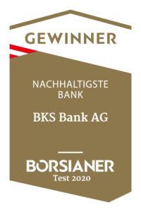 Nachhaltigkeit: Bank 2020